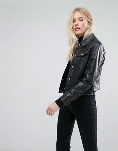 Кожаная куртка Lab - Черный