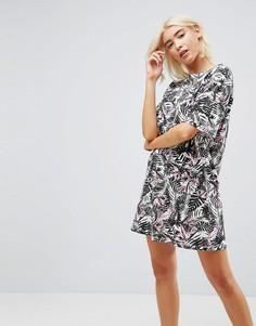 Платье-футболка с цветочным принтом ASOS Ultimate - Мульти