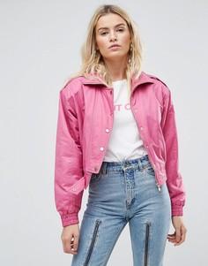 Розовый бомбер в стиле 80-х ASOS - Розовый