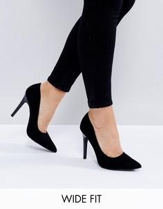 Черные туфли-лодочки для широкой стопы New Look - Черный