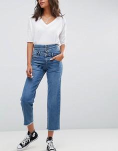 Синие прямые джинсы с эффектом тройного пояса ASOS - Синий