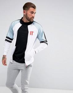 Белая спортивная куртка с голубыми вставками 11 Degrees - Белый