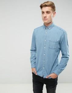 Джинсовая рубашка классического кроя Esprit - Синий