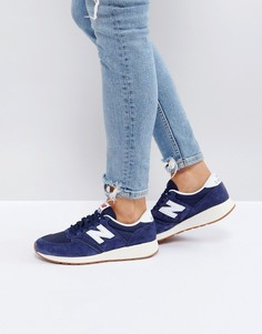 Темно-синие сетчатые кроссовки на каучуковой подошве New Balance 420 - Темно-синий