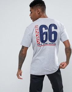 Серая футболка с принтом на спине Vans VA36FHATH - Серый