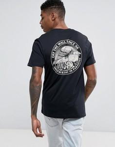 Черная футболка с принтом на спине Vans VA36FRBLK - Черный