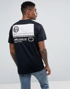 Черная футболка с принтом на кармане Vans VA36FZBLK - Черный