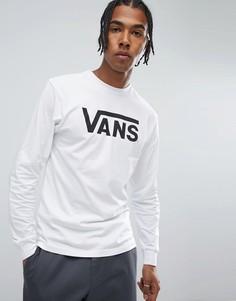 Белый лонгслив с логотипом Vans Classic VK6HYB2 - Белый