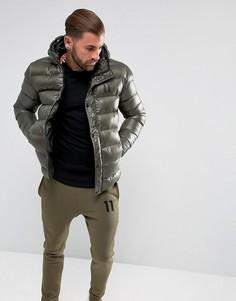 Дутая куртка цвета хаки 11 Degrees - Зеленый