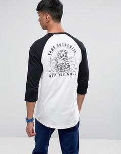 Белая футболка с принтом и рукавами реглан Vans VA36GHYB2 - Белый