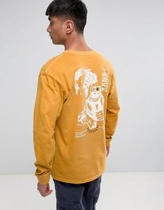 Желтый лонгслив Vans Wifi Death VA36G750X - Желтый