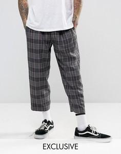 Свободные брюки в клетку Reclaimed Vintage Inspired - Серый