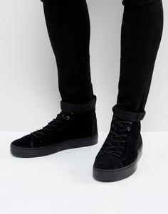 Замшевые высокие кроссовки TOMS - Черный
