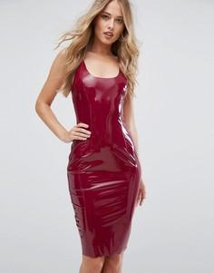 Блестящее облегающее платье Club L - Красный