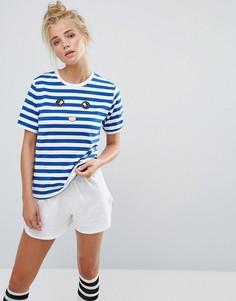 Пижамный комплект в полоску с шортами Adolescent - Синий