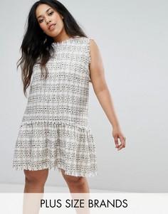 Платье из букле с заниженной талией Elvi - Кремовый
