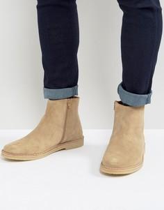 Замшевые ботинки с молнией Zign - Светло-серый