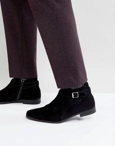Замшевые ботинки с пряжкой Zign - Черный