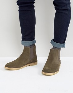 Замшевые ботинки челси цвета хаки Zign - Зеленый
