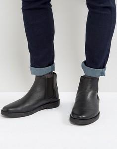 Черные кожаные ботинки челси Zign - Черный