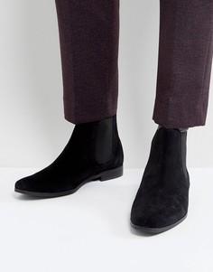 Черные замшевые ботинки челси Zign - Черный