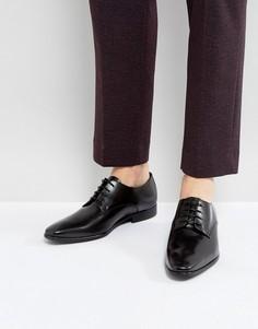 Кожаные туфли дерби со шнуровкой Zign - Черный