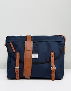 Темно-синяя сумка почтальона Sandqvist Erik - Темно-синий
