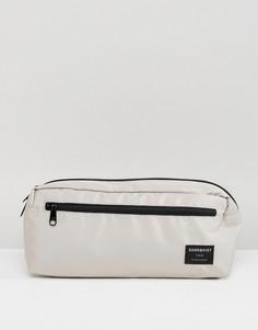 Серая сумка на пояс Sandqvist - Серый