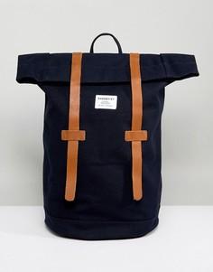 Темно-синий рюкзак Sandqvist Stig - Темно-синий