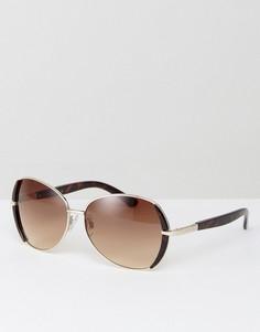 Большие солнцезащитные очки Carvela - Золотой