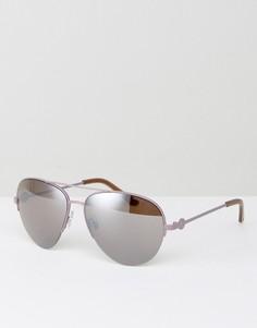 Солнцезащитные очки-авиаторы с зеркальными стеклами Kurt Geiger - Серебряный