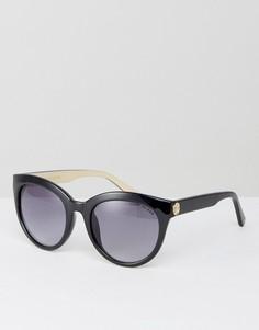 Солнцезащитные очки в круглой оправе Kurt Geiger - Черный