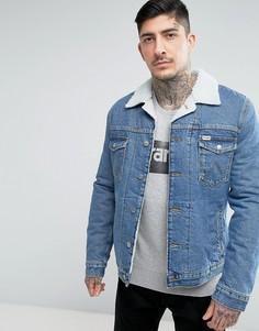 Песочная куртка с искусственным мехом Wrangler - Синий