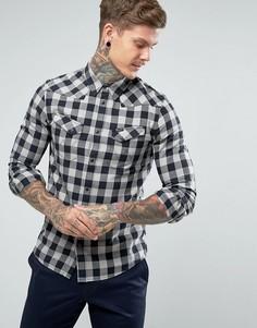 Рубашка в клетку в стиле вестерн Wrangler - Черный