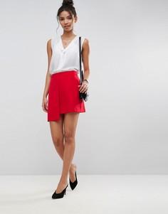 Асимметричная мини-юбка ASOS Tailored - Красный