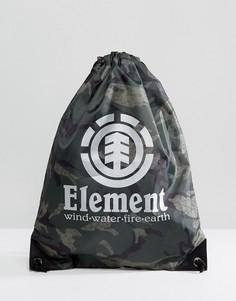 Спортивная сумка с камуфляжным принтом Element Buddy - Черный
