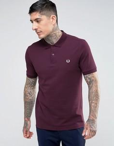 Бордовая облегающая футболка-поло Fred Perry - Красный
