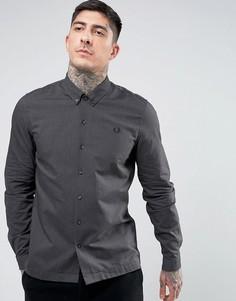 Черная оксфордская рубашка с начесом Fred Perry - Черный