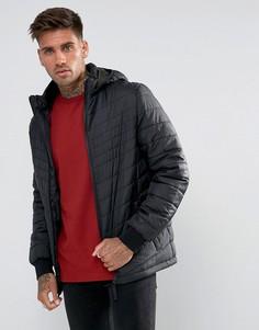 Черная дутая куртка YOURTURN - Черный