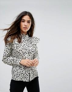 Блузка с цветочным принтом и оборками Influence - Белый