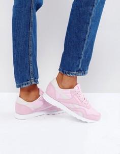 Розовые кроссовки Reebok Classic Nylon x Face - Розовый