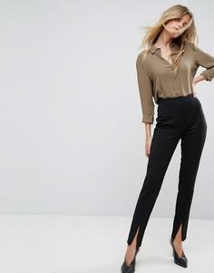 Зауженные брюки с фактурной отделкой Y.A.S - Черный