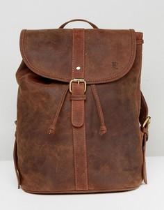Кожаный рюкзак в винтажном стиле Forbes & Lewis - Коричневый