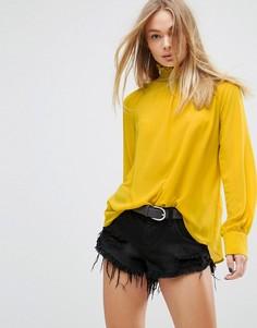 Топ с высоким воротом и пуговицами на спине Glamorous - Желтый