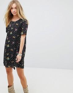 Платье А-силуэта с цветочным принтом Glamorous - Черный