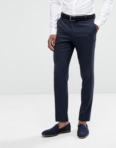Узкие фактурные премиум-брюки Jack & Jones - Темно-синий