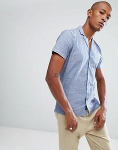 Рубашка с отложным воротником Minimum - Темно-синий