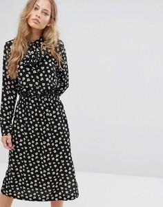 Платье миди с принтом Suncoo - Черный