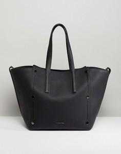 Большая сумка-тоут с отделкой заклепками Calvin Klein - Черный