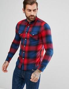 Рубашка в стиле вестерн в красную клетку Lee Jeans - Красный